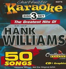 Karaoke Chartbuster 3 CD+G The Gratest Hits Of Hank Williams 5075With Song List