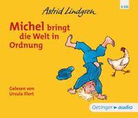 URSULA ILLERT - ASTRID LINDGREN: MICHEL BRINGT DIE WELT IN ORDNUNG  3 CD NEU