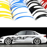 2PCS Graphics Decals Stickers Flame Fire Totem Car Auto Side Body Accessories