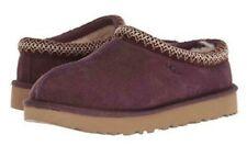 UGG Tasman Suede / Sheepskin Slipper Womens Embroidered Slip On Shoe PORT Size 7