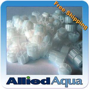 Moving Bed Bio Filter Media (MBBR), 1 Gallon - Better than Kaldnes K1 aquaponics