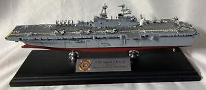 USS Saipan (LHA-2) Amphibious Assault Ship, Tarawa Class ~ 1:700 Desk Model