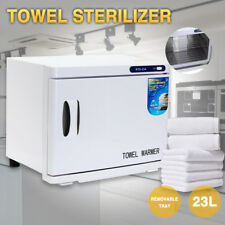 23L Hot Towel Warmer Cabinet UV Sterilizer Facial Salon Beauty Equipment