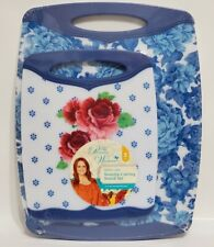 PIONEER WOMAN - HERITAGE FLORAL CUTTING BOARD SET - TWO PACK / NONSLIP - NEW