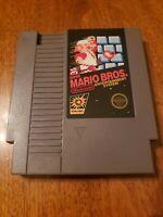 Super Mario Bros w sleeve Nintendo NES Video Game Cart 5 Screw Tested  Working !