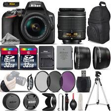 Nikon D3500 Digital SLR Camera +3 Lens 18-55mm VR + 64GB -Great Saving Full Kit