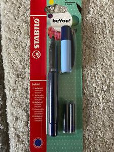 Stabilo Beyou Rollerball Medium Nib - 0.5mm - Blue Ink With Refills