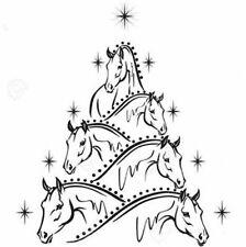 Christmas Cross Stitch Pattern, Horse Tree,Chart DIY