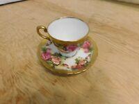 royal chelsea golden rose demitasse cup&saucer