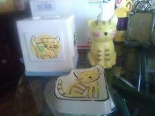 Jenny Faw Cats & Dogs Bath Vanity Access Tissue Cover Hand Soap Disp Soap Dish