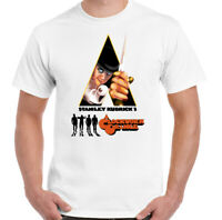 A Clockwork Orange T-Shirt Mens Retro 70s Movie Stanley Kubrick Poster Film Top
