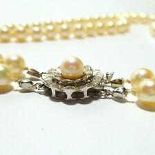 585 Weißgold Oro Cierre De Joyería Collar De Perlas De Cuentas 2 Remar Cadena