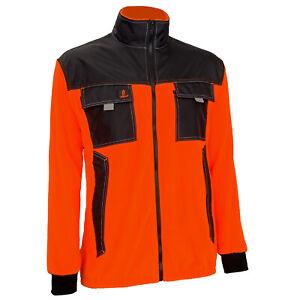 Arbeitsjacke Vliesjacke Fleece Orange Warnjacke Outdoor Atmungsaktive (PO-O-URG)