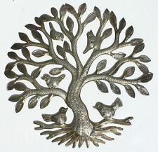 Arbre en métal avec des oiseaux arbre de mur de la vie pendaison décoration art