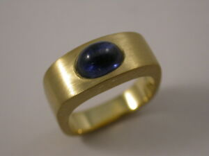 Toller Saphir  Designer - Ring Gelbgold