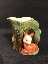 """Eastgate Withernsea Pottery """"Fauna"""" Bud Posy Vase With Seated Deer"""