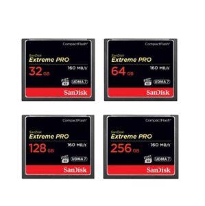 Sandisk Extreme Pro 16GB 32GB 64GB 128GB 256GB Compact Flash Memory Card CF 1067