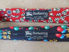 2 Authentic Burberry Silk Ties, Made in the UK