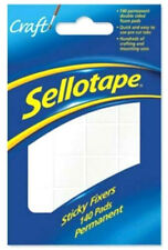 140 x Sellotape Sticky Fixers Permanent Double Sided Foam Pads 12mm x 25mm New