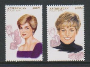 Azerbaijan - 1998, Diana Princess of Wales set - MNH - SG 431/2