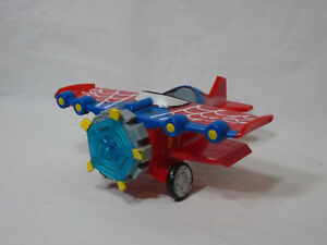 "IMAGINEXT SPIDER-MAN PLANE * 2011 Marvel * 6"" long Stunt Bi-Plane"