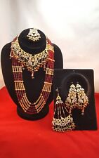 INDIAN Bollywood Oro Marone Sposa Gioielli Set Mala