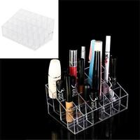 24 Slot Lipstick Acrylic Holder Display Stand Cosmetic Organizer Makeup Case.