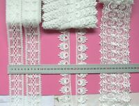 GUIPURE Edge & Insert Lace OFF WHITE 35-95mm Wide 2-5 Metres 3 Style Choice LL1