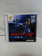 Akumajo Dracula X Castlevania PC Engine KONAMI w/Obi VG