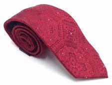 $100 SEAN JOHN Mens RED WHITE FLORAL SILK NECKTIE CLASSIC SLIM NECK TIE 58X3.25