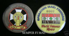 IRAQ HMLA-169 VIPERS US MARINES CHALLENGE COIN OIF USMC PIN UP MAW MCAS 2003 OIF