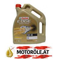 5 Liter Castrol EDGE FST -TITANIUM Turbo Diesel 5W-40 Motoröl 5W40 VW FORD BMW