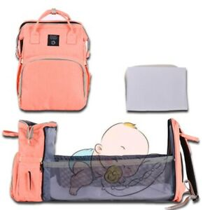 Baby Diaper Bag Bed Backpack For Mom Maternity Large Capacity Backpack