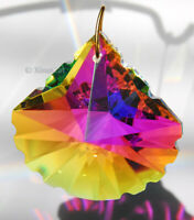 Scallop Spade 50mm Austrian Crystal Clear AB Prism SunCatcher 2 inches