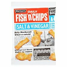 Burtons Fish n Chips Salt & Vinegar Baked Snack Biscuit 30 x 40g