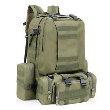 30d3e4636e7f 55l Large Capacity Military Tactical Bag Camping Hiking Trekking Backpack  Combo 50l ArmyGreen
