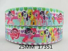 1 METRE NEW MY LITTLE PONY HEART RIBBON SIZE 1 INCH BOWS HEADBANDS CARD MAKING