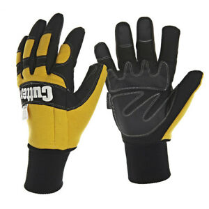 1 Pair Cutter Pro. Thermal Thinsulate Lined Chainsaw Gloves Amara Leather(CW500)