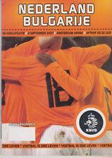 Programme / Programma Holland v Bulgaria 08-09-2007 UEFA EURO 2008 Qualifier