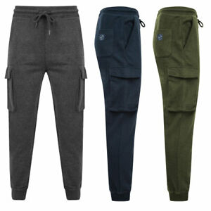 Tokyo Laundry Joggers Jogging Bottoms Cargo Combat Pockets Tapered Straight Fit