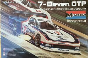 MONOGRAM FORD MUSTANG GTP IMSA  #2 FACTORY SEALED 1/24 SCALE FULL ENGINE DETAIL