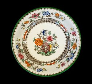 Beautiful Copeland Spode Chinese Rose Green Trim Coupe Cereal Bowl