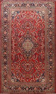 Excellent Vintage Floral Traditional Area Rug Hand-knotted Oriental Carpet 10x14