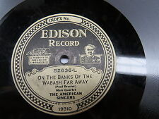 American Singers - EDISON ELECTRIC 52636 - On the Banks of the Wabash Far Away