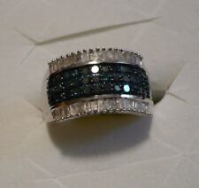 Blue & White Diamond Band Sz.6  74 diamonds .70tcw MSRP$1899