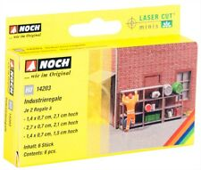 14203 Noch HO, Industrieregale 6 Regale, Laser-Cut minis, Modelleisenbahn, Hobby