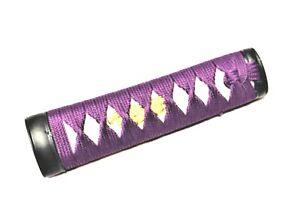 """6"""" Purple cotton Wakizashi tsuka iaito katana shinken iaido japanese sword"""