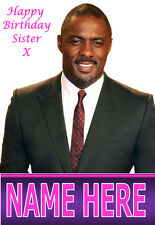 Idris Elba A5 Personalised Birthday Card Any Name / Age, Relative Fabulous! 1