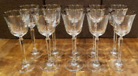 """* Set of 11 * Mikasa Crystal BRIARCLIFFE -- 8-1/8"""" Wine Glasses Glass Goblets"""
