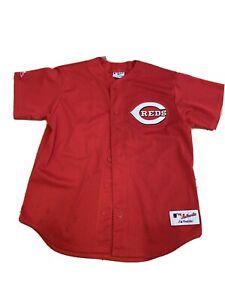 Ken Griffey Jr Cincinnati Reds Los Rojos Majestic AUTHENTIC Jersey Men's L 44